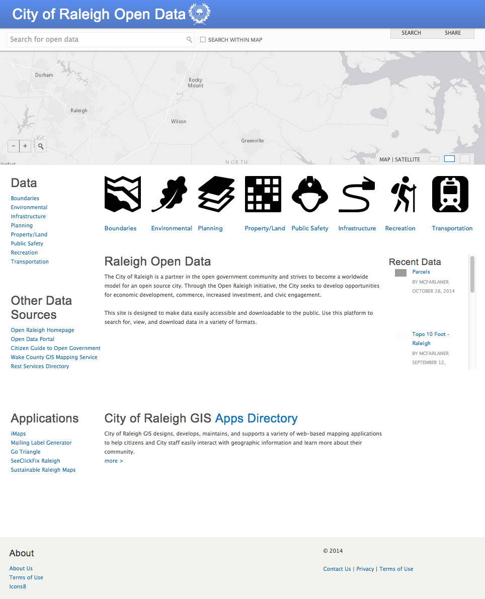 ArcGIS Open Data Site of the Week: City of Raleigh, NC