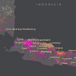 World Population Estimate map for Jakarta, Indonesia.