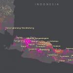 World Population Estimate map for Jakarta, Indonesia.