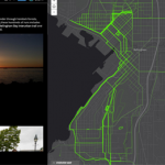 GPS Running Tracks Heat Map