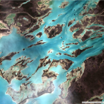 Natural Color with DRA (Dynamic Range Adjustment applied to maximize the contrast) Landsat 8 Bands 4,3,2.  This band combination provides an image that looks the way we think the earth and water should look from above.