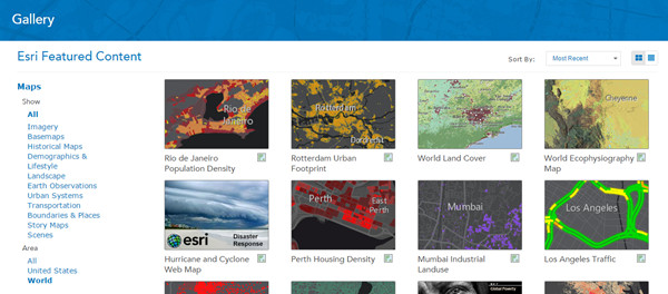 ArcGIS Online Gallery