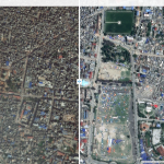 Compare pre- and post-event imagery to explore damage caused by the Nepal Earthquake.  *After earthquake imagery provided by Airbus Defense and Space.