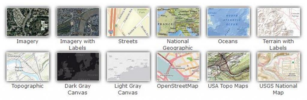 ArcGIS basemaps