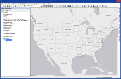Screenshot of Canvas basemap in ArcMap