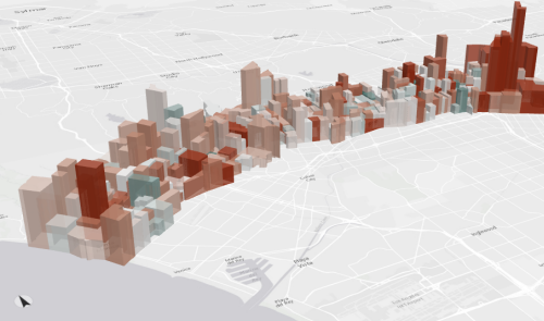 Total households and household growth per block group along Wilshire Blvd 2014-2019