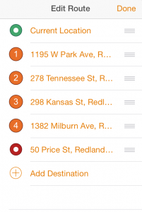 Create a list of work stops with Navigator for ArcGIS.