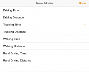 Calculate directions based on the specific vehicle or roads your workforce uses.