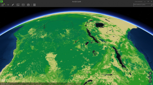 Living Atlas Biomass data in ArcGIS Earth Prototype