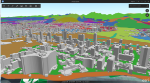 Earth with CyberCity3D data