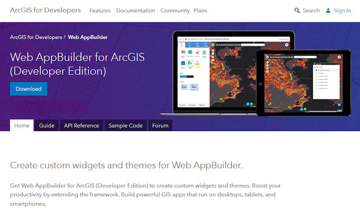 Web AppBuilder for ArcGIS Developer Edition Resource Page