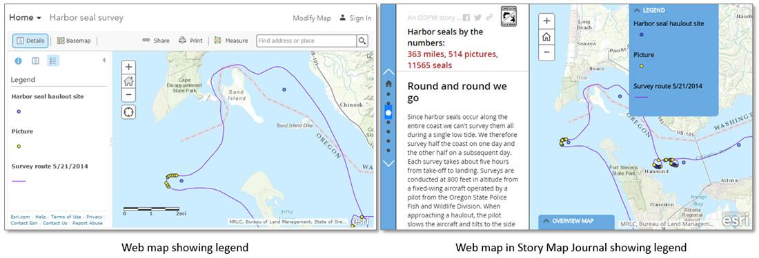 Enhance your Story Map Journal legend