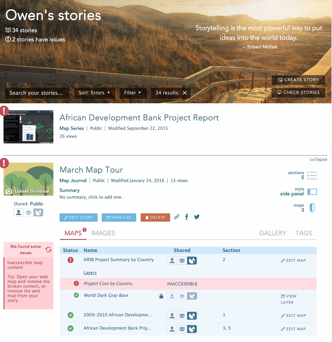 What's new for Story Maps in Portal for ArcGIS 10 4