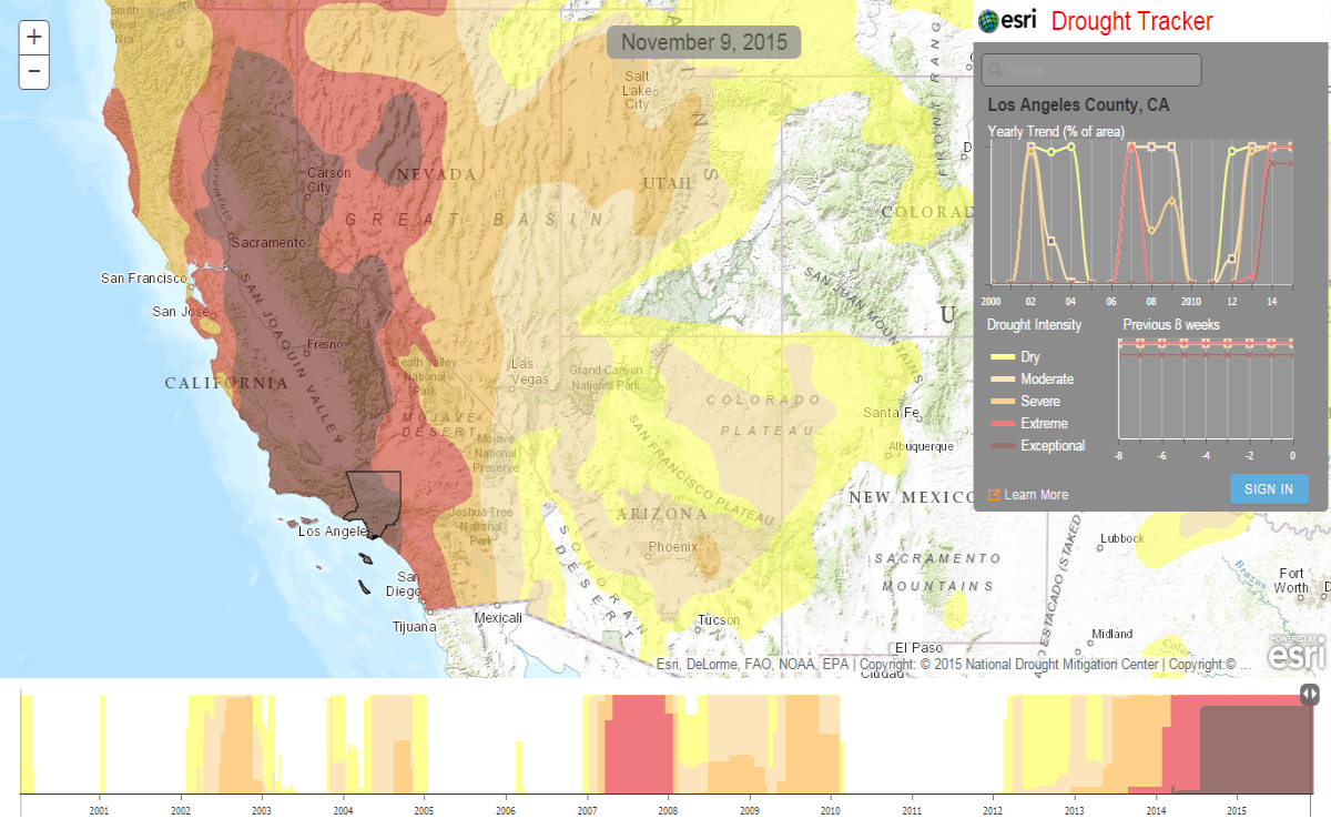 Allows Anyone To Explore - Us department of agriculture california drought map