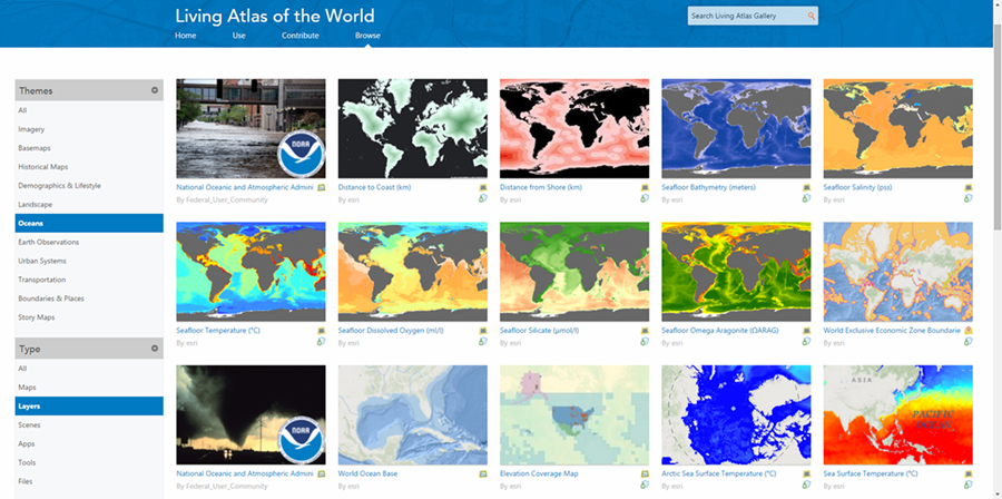 New enhancements to Ocean Content in the Living Atlas of the World