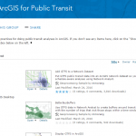 ArcGIS for Public Transit group screenshot