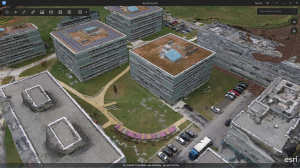 Drone2Map mesh data used in ArcGIS Earth