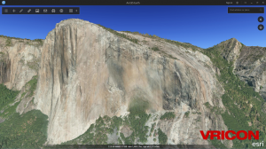 Vricon Yosemite Data in ArcGIS Earth
