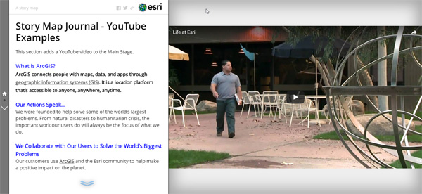 Add YouTube videos to your Story Map Journal or Story Map Series
