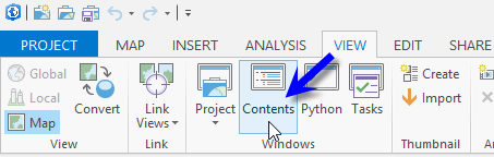 Open the Contents pane