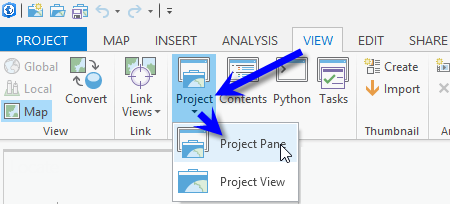 Open the Project pane: View tab > Project button > Project Pane