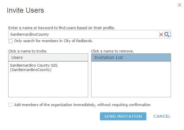 Invite users to your group