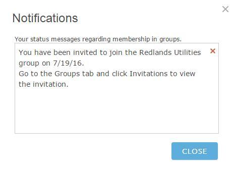 Invitation notification info