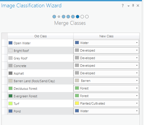 Merge Classes page