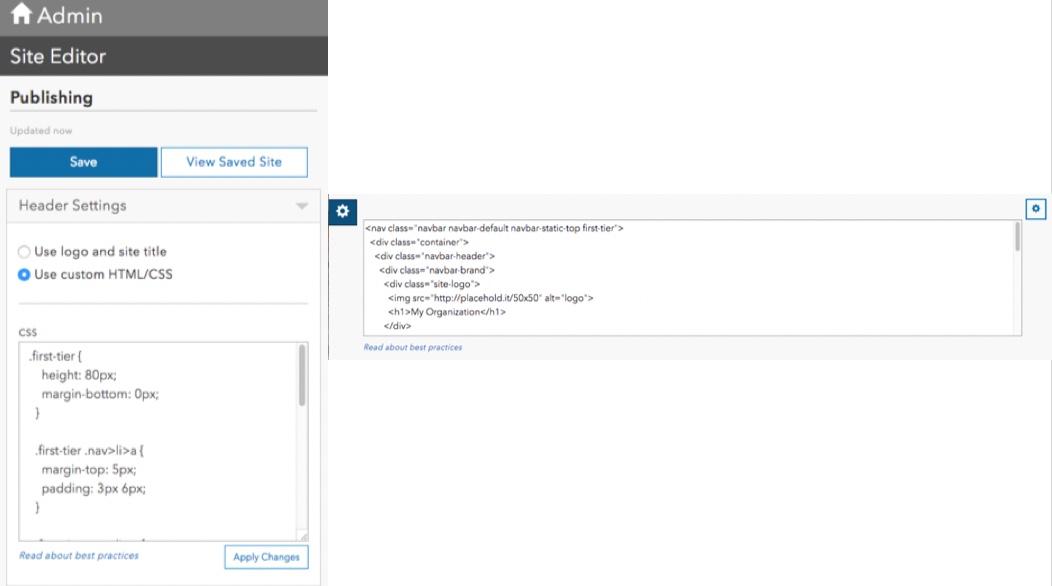 Custom HTML CSS Editor
