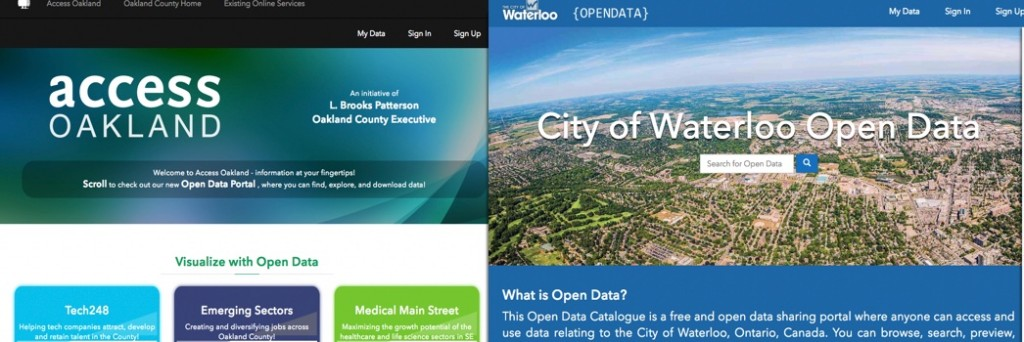 Open Data Sites Examples