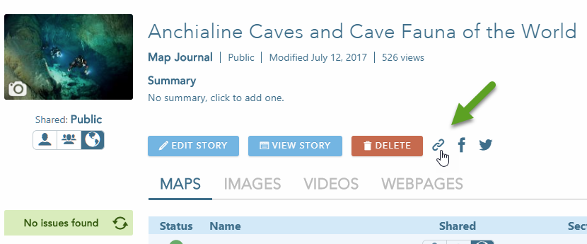 Embedding Story Maps in websites and blogs