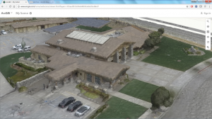Drone mapped Fire Station in ArcGIS Online