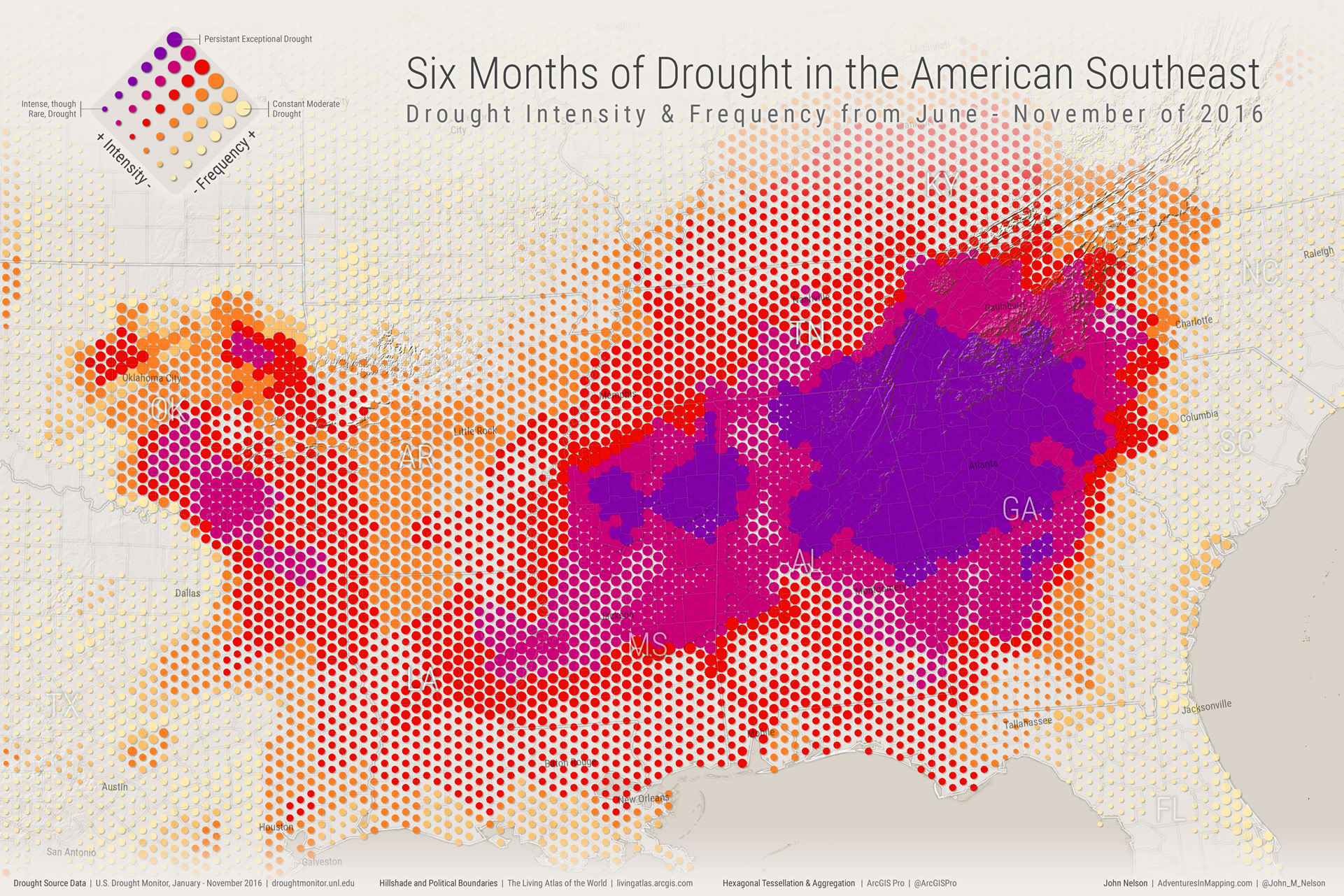 ArcGIS Pro Drought Monitor map