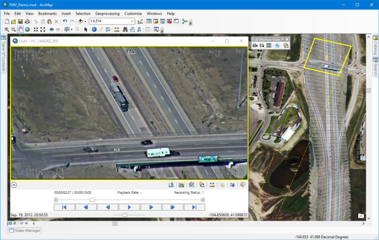 Check Out the New Version of Full Motion Video for ArcMap