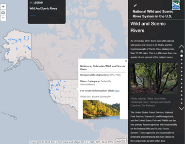Figure 2. Page in Wild and Scenic Story Map