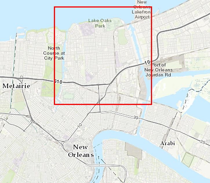 Gentilly map