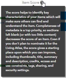 Item Score tooltip