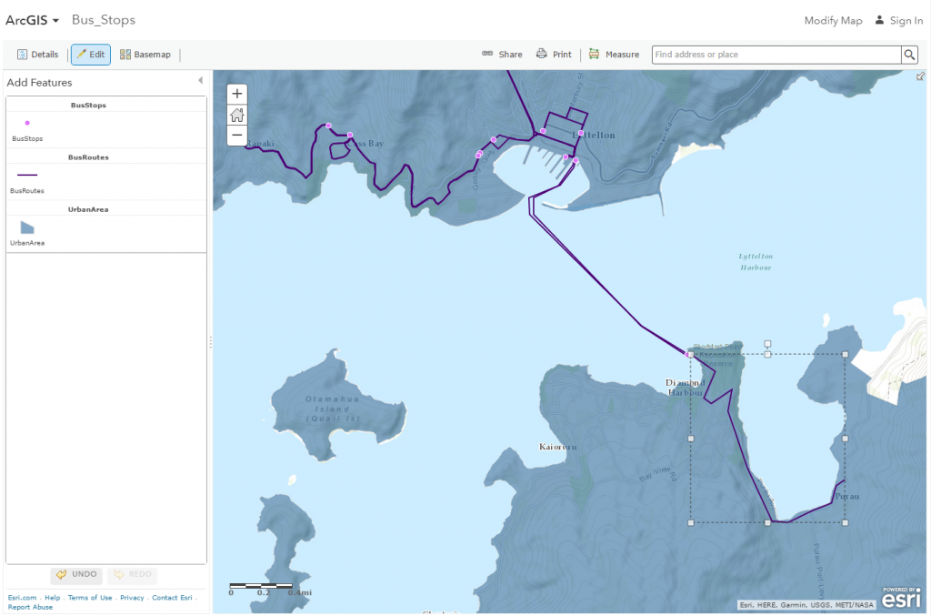 Edited map in ArcGIS Online map viewer