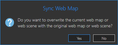 Sync Web Map warning