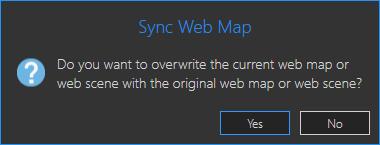 Sync Web Map warning