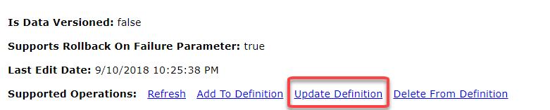Update Definition