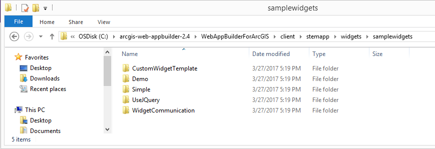 Creating a Custom Widget for Web AppBuilder for ArcGIS using the