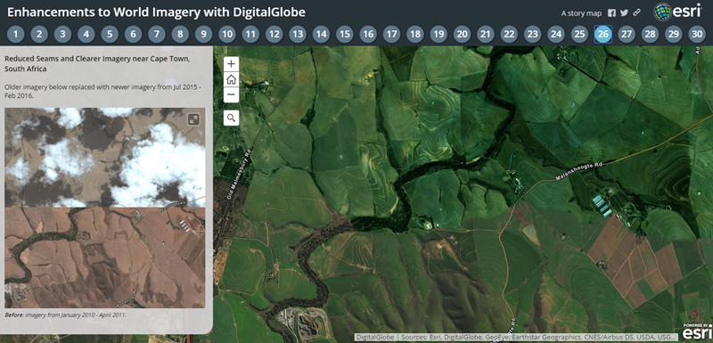 Enhancements to World Imagery with DigitalGlobe