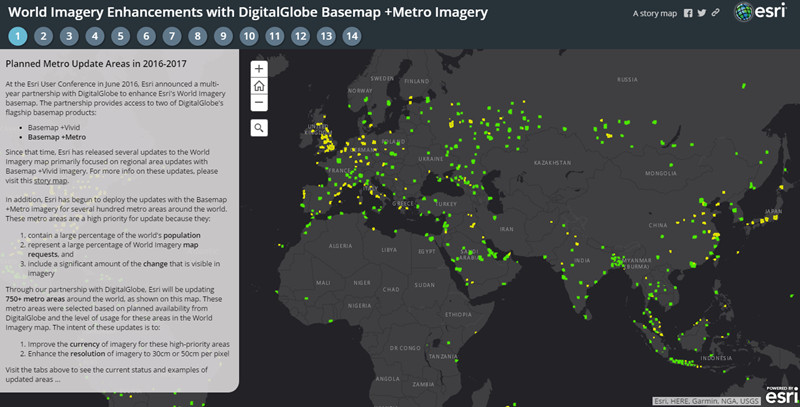 World Imagery Enhancements with DigitalGlobe Basemap +Metro Imagery
