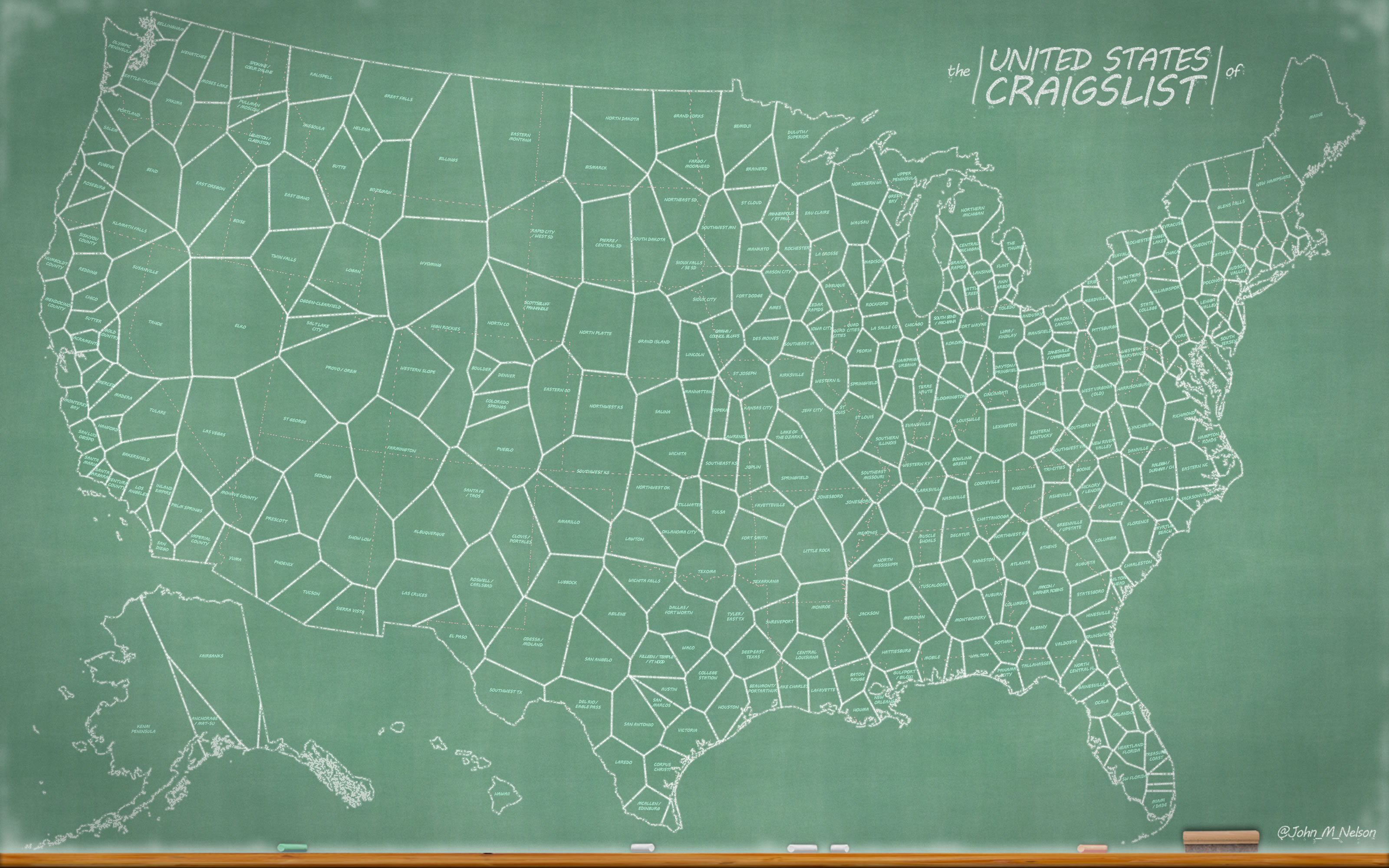 How-To: United States of Craigslist, Chalkboard Style!