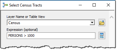 Model tool selecting features