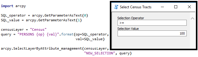 Building a script tool to help query features
