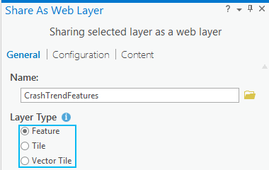 Share as feature layer