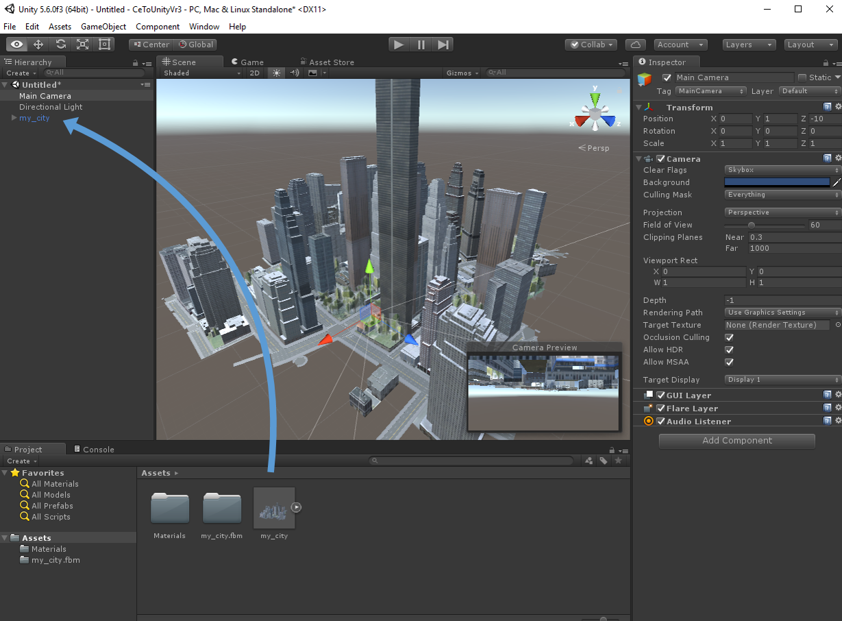 GIS2VR: From CityEngine via Unity to HTC Vive