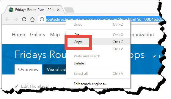 Copy Route URL
